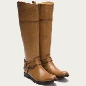 Frye Melissa Harness Boots in Camel